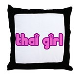 Thai Girl Thailand Throw Pillow