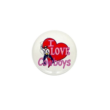 I Love Cowboys Mini Button