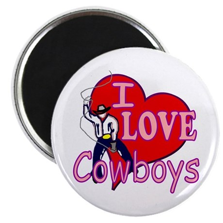 I Love Cowboys Magnet
