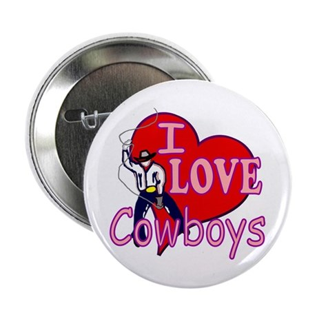 "I Love Cowboys 2.25"" Button (10 pack)"