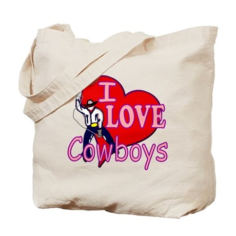 I Love Cowboys Tote Bag