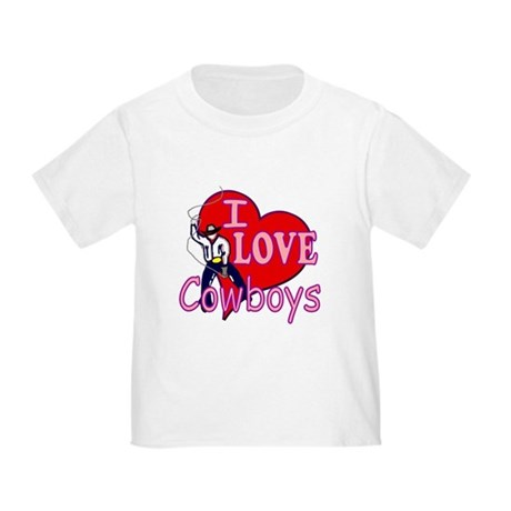 I Love Cowboys Toddler T-Shirt