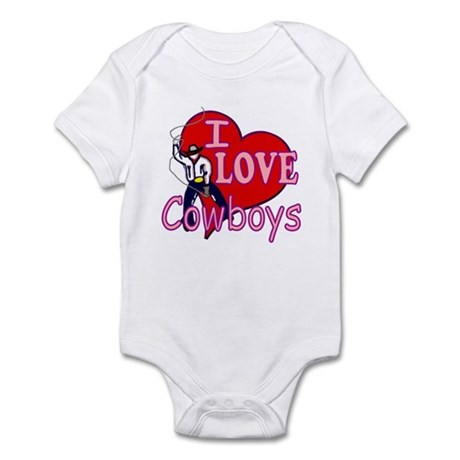 I Love Cowboys Infant Bodysuit