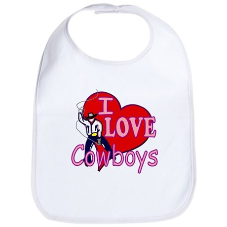 I Love Cowboys Bib
