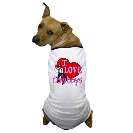I Love Cowboys Dog T-Shirt