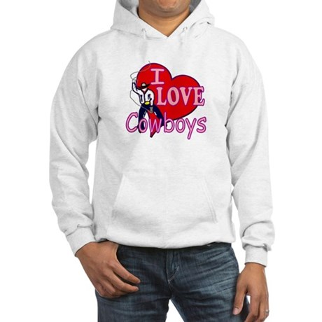I Love Cowboys Hooded Sweatshirt