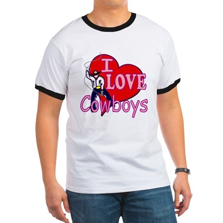 I Love Cowboys Ringer T