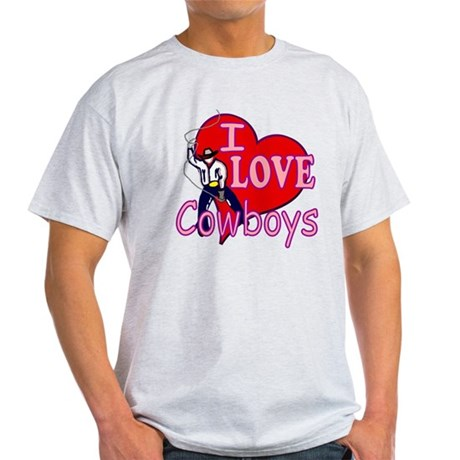 I Love Cowboys Light T-Shirt