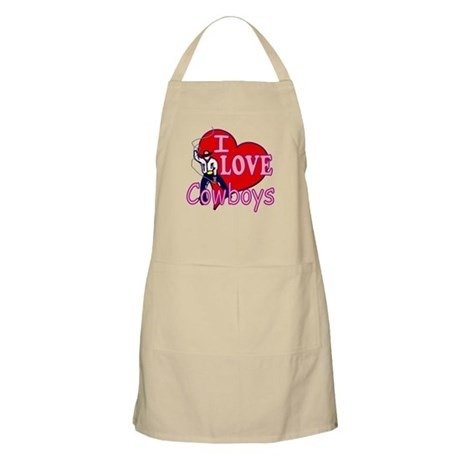 I Love Cowboys BBQ Apron