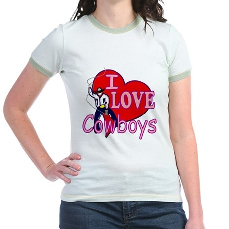 I Love Cowboys Jr. Ringer T-Shirt