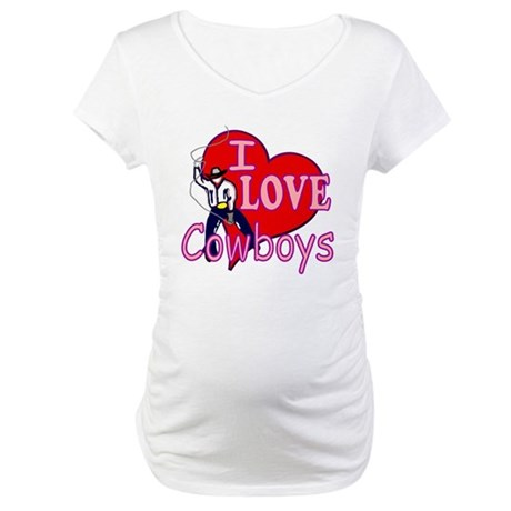 I Love Cowboys Maternity T-Shirt