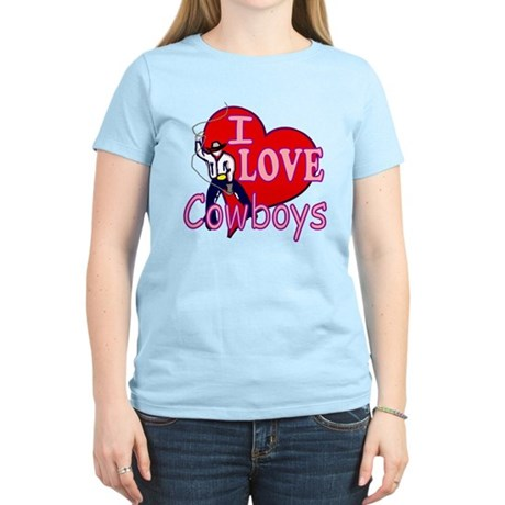 I Love Cowboys Women's Light T-Shirt