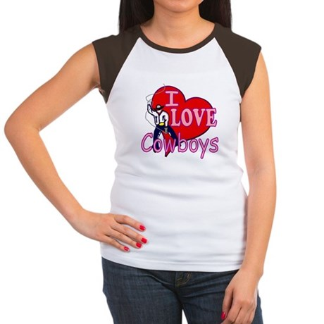 I Love Cowboys Women's Cap Sleeve T-Shirt
