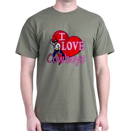I Love Cowboys Dark T-Shirt
