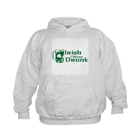 Irish I Were Drunk Kids Hoodie