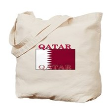 Qatar Qatari Flag Tote Bag