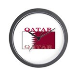 Qatar Qatari Flag Wall Clock