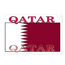 Qatar Qatari Flag Postcards (Package of 8)