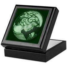 Lillian cameo hunter green Keepsake Box