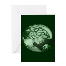 Lillian cameo hunter green Greeting Card