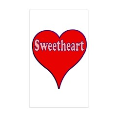 Sweetheart Rectangle Sticker