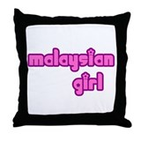 Malaysian Girl Cute Throw Pillow