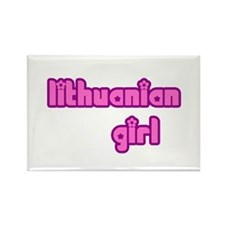 Lithuanian Girl Cute Rectangle Magnet