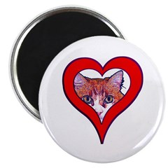 "I love my cat 2.25"" Magnet (10 pack)"