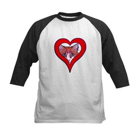 I love my cat Kids Baseball Jersey