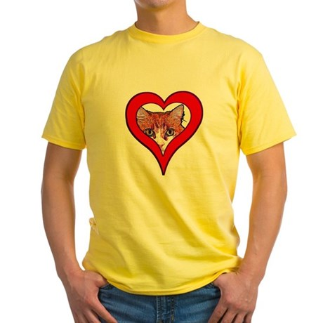 I love my cat Yellow T-Shirt