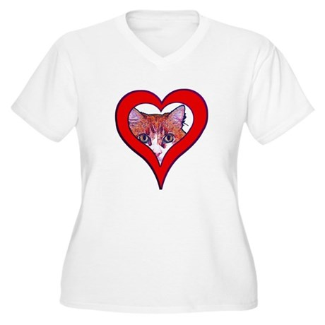 I love my cat Women's Plus Size V-Neck T-Shirt