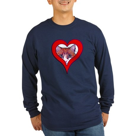 I love my cat Long Sleeve Dark T-Shirt