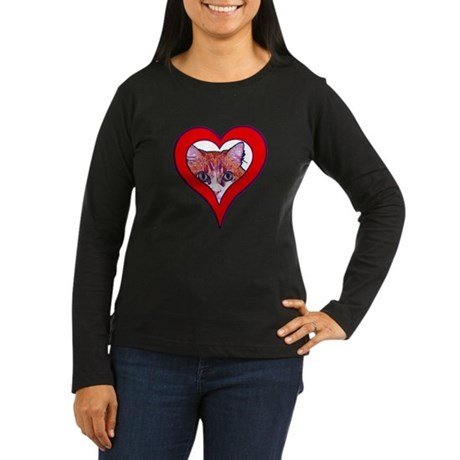I love my cat Women's Long Sleeve Dark T-Shirt