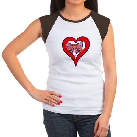I love my cat Women's Cap Sleeve T-Shirt