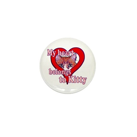 My heart belongs to kitty Mini Button (10 pack)