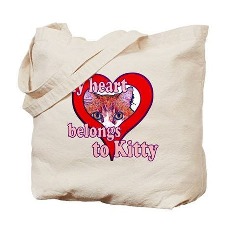 My heart belongs to kitty Tote Bag