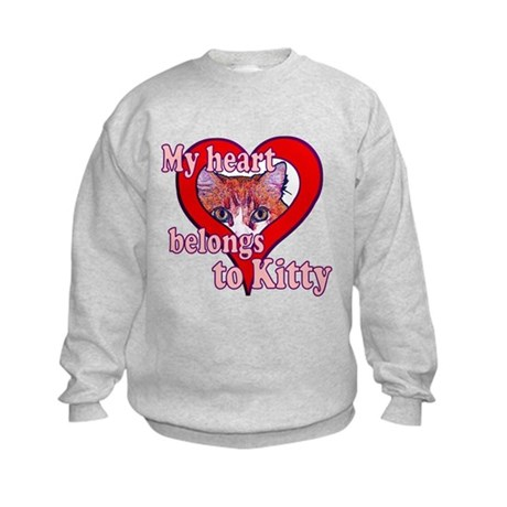 My heart belongs to kitty Kids Sweatshirt