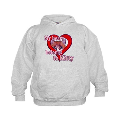 My heart belongs to kitty Kids Hoodie