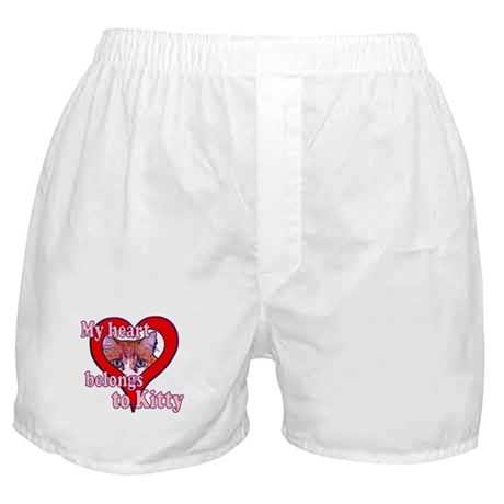 My heart belongs to kitty Boxer Shorts