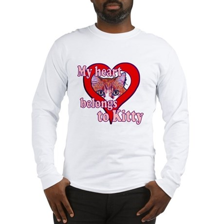 My heart belongs to kitty Long Sleeve T-Shirt