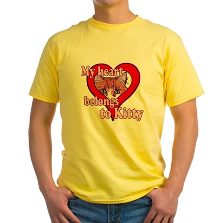 My heart belongs to kitty Yellow T-Shirt