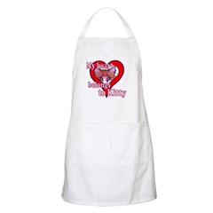 My heart belongs to kitty BBQ Apron