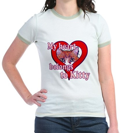 My heart belongs to kitty Jr. Ringer T-Shirt