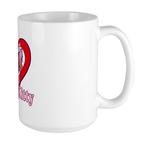My heart belongs to kitty Large Mug