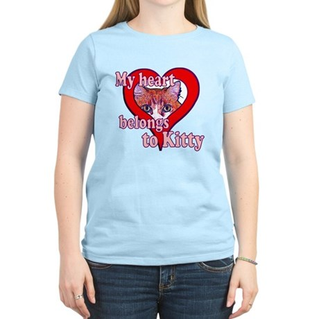 My heart belongs to kitty Women's Light T-Shirt