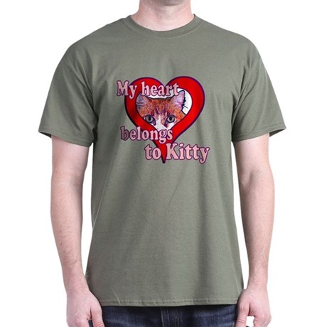 My heart belongs to kitty Dark T-Shirt