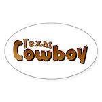 Texas Cowboy Oval Sticker