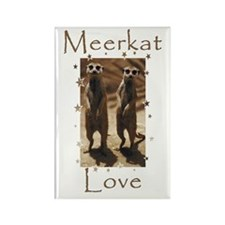 Meerkat Love Rectangle Magnet