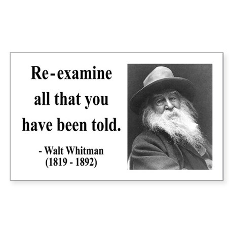 Walter Whitman 11 Rectangle Sticker