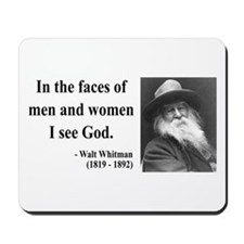 Walter Whitman 16 Mousepad
